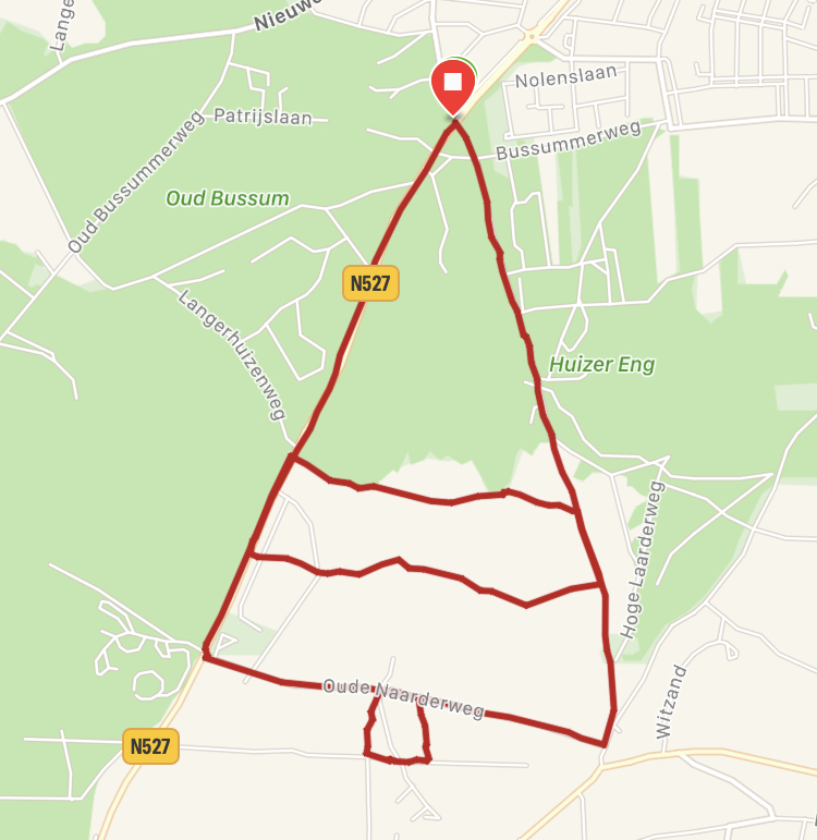 Kerstboom route